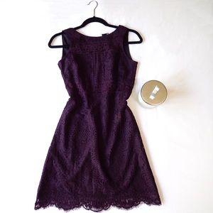 Loft Maroon Lace Sleeveless Dress Size 00P